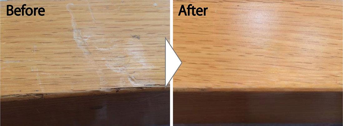 玄関框の傷補修