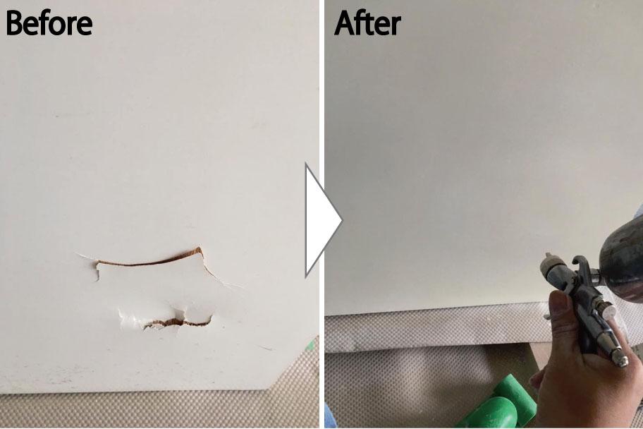 扉の穴の補修