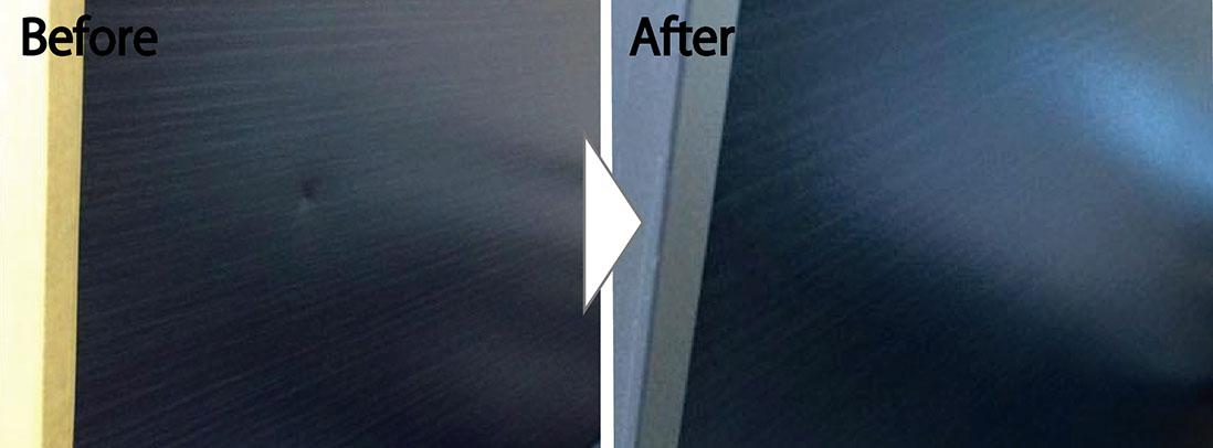 玄関ドアの凹み補修