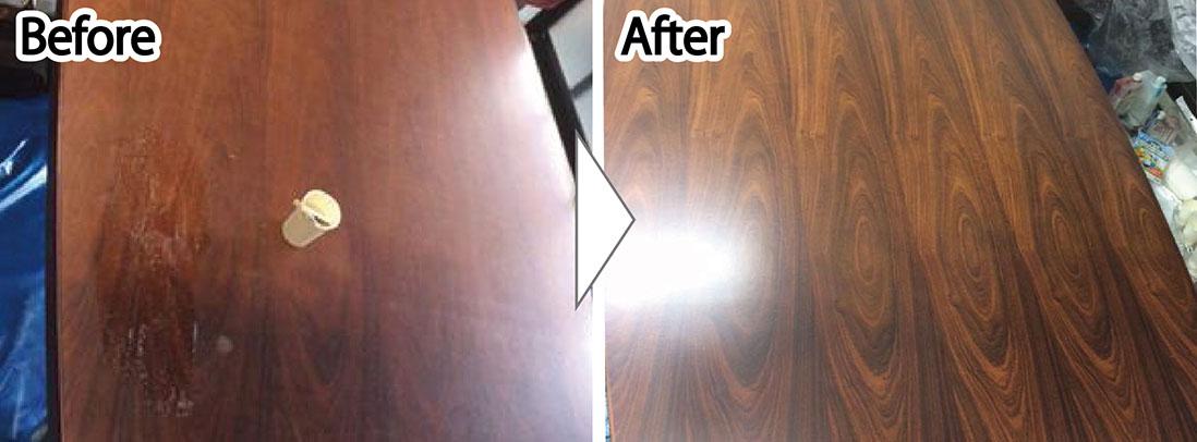 テーブルの塗り替え