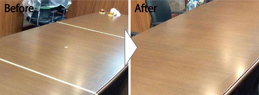 役員家具のテーブル補修