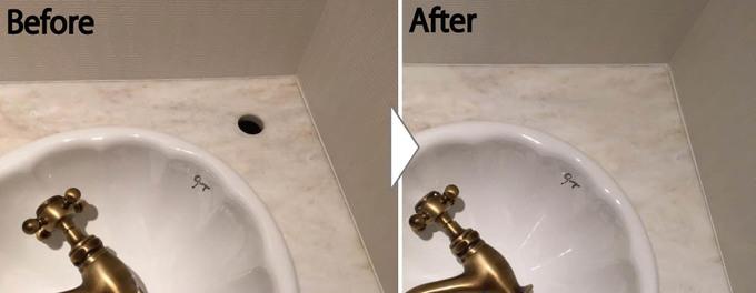 洗面台の補修